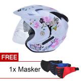 Harga Wto Helmet Impressive Pixie Double Visor Putih Promo Free Masker Terbaru