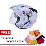 Spesifikasi Wto Helmet Impressive Pixie Putih Promo Gratis Sarung Tangan Handuk Bagus