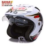 Spesifikasi Wto Helmet Impressive Spectra Putih Merah Dan Harga