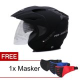 Wto Helmet Pro Sight Hitam Doff Promo Gratis Masker Original