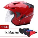 Jual Cepat Wto Helmet Pro Sight Merah Promo Gratis Masker
