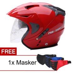 Spesifikasi Wto Helmet Pro Sight Merah Promo Gratis Masker Terbaru