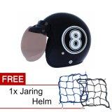 Harga Wto Helmet Retro Bogo 8 Hitam Putih Promo Gratis Jaring Helm Online