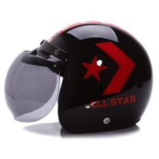 Jual Wto Helmet Retro Bogo All Star Hitam Merah Wto Helmet Original