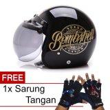 Promo Wto Helmet Retro Bogo Bombshell Hitam Gold Promo Gratis Sarung Tangan Wto Helmet Terbaru