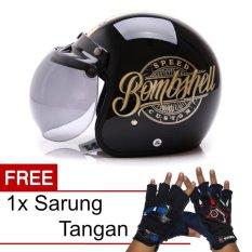 Harga Wto Helmet Retro Bogo Bombshell Hitam Gold Promo Gratis Sarung Tangan Asli Wto Helmet