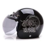 Beli Wto Helmet Retro Bogo Born To Ride Hitam Murah Banten
