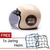 Beli Wto Helmet Retro Bogo Coffee Lovers Krem Promo Gratis Jaring Helm Seken