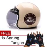 Harga Wto Helmet Retro Bogo Coffee Lovers Krem Promo Gratis Sarung Tangan Online Banten