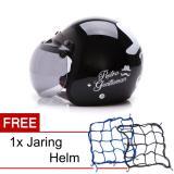 Beli Wto Helmet Retro Bogo Gentleman Hitam Promo Gratis Jaring Helm