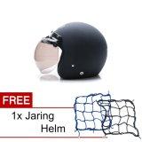 Jual Wto Helmet Retro Bogo Hitam Doff Promo Gratis Jaring Helm Online