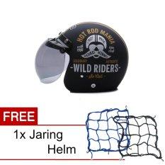 Beli Wto Helmet Retro Bogo Hot Rod Hitam Doff Promo Gratis Jaring Helm Baru