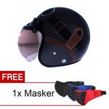 Promo Wto Helmet Retro Bogo Kacamata Abu Abu Cokelat Promo Free Masker Wto Helmet Terbaru