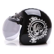 Promo Wto Helmet Retro Bogo Ride All Day Hitam Silver Murah