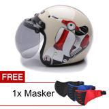 Katalog Wto Helmet Retro Bogo Vespa Krem Promo Gratis Masker Terbaru
