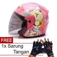 Beli Wto Helmet Z1R Kop Cute Bear Pink Promo Gratis Sarung Tangan Pakai Kartu Kredit
