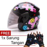 Diskon Wto Helmet Z1R Kop Little Bug Hitam Pink Promo Gratis Sarung Tangan Wto Helmet Di Banten