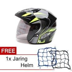 Beli Wto Helmet Z1R Pet R2 Rider Hitam Hijau Promo Gratis Jaring Helm Online