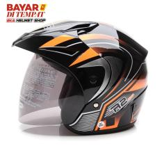 Beli Wto Helmet Z1R Pet R2 Rider Hitam Oren Wto Helmet Murah