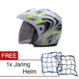 Harga Wto Helmet Z1R Pet R2 Rider Putih Hijau Neon Promo Gratis Jaring Helm Fullset Murah