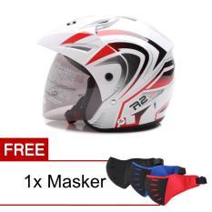 Beli Wto Helmet Z1R Pet R2 Rider Putih Merah Promo Gratis Masker Wto Helmet Asli
