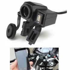 Diskon Produk Wupp Cigarette Plug Motor Waterproof Dengan 12V Usb S2336 Black