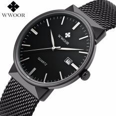 Beli Wwoor 8826 Original Jam Tangan Kantoran Pria Formal Luxury Tali Rantai Stainless Tahan Air Yang Bagus