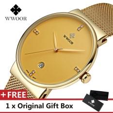 Jual Wwoor Top Brand Luxury Men S Watch Waterproof Tanggal Clock Male Olahraga Jam Quartz Jam Tangan Pria Jam Tangan Kasual Emas Intl Branded Original