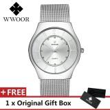 Review Wwoor Top Luxury Brand Watch Famous Fashion Sports Cool Men Quartz Watches Calendar Waterproof Mesh Wristwatch For Male Intl