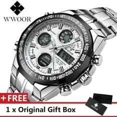 Wwoor Mewah Atas Jam Bermerek Terkenal Fashion Olahraga untuk Pria Jam  Tangan Kuarsa Kalender Alarm Stopwatch fbaed60372
