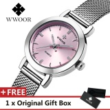 Wwoor Top Luxury Brand Watch Famous Women S Fashion Quartz Watches Waterproof Dress Women Mesh Wristwatch Gift For Female Pink Intl Tiongkok Diskon