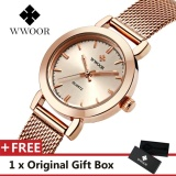 Review Wwoor Jam Tangan Quartz Wanita Tahan Air Warna Rose Gold Wwoor Di Tiongkok