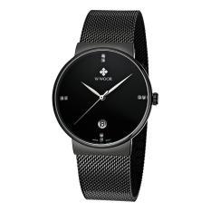 WWOOR Ultra Tipis Fashion Mewah Diamond QUARTZ Ananlog Man Casual dan Fitness Tracker Kesederhanaan Pria Decorative Watch + Watch Box -Intl