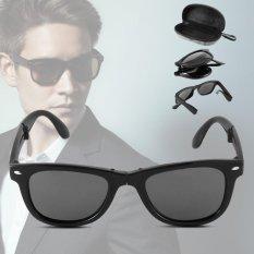 XCSOURCE Fashion Unisex Foldable Sunglasses  UV400 Protection Black Lens Glasses