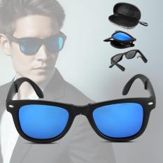 XCSOURCE Fashion  Unisex Foldable Sunglasses  UV400 Protection Blue Lens Glasses