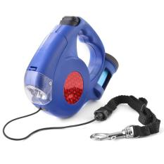Promo Xcsource Retractable Extending Pet Dog Leash Lead W Led Light Garbage Bag Blue Akhir Tahun