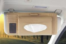 Jual Xfsmy Car Sun Visor Organizer 4 In 1 Pen Cd Holder Kartu Case Dan Tissue Box Beige Online Tiongkok