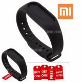 Xiaomi Bracelet Silicone Gelang Jam Xiaomi Mi Band 2 Hitam Buy 1 Get 1 Free Diskon Akhir Tahun