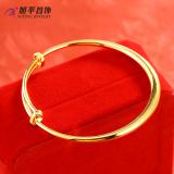Spek Xuping Jewelry Gelang Wanita Berlapis Emas Model Retro Kaitan Dorong Dan Tarik Tiongkok