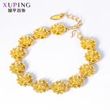 Toko Xuping Jewelry Retro Perempuan Endapan Emas Gelang Emas Gelang Termurah Di Tiongkok