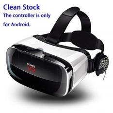 Y-SD 3D VR Headset Realitas Maya Kacamata dengan Dapat Disesuaikan HD 100% Anti-biru-terang dan Radiasi lensa, olahraga Headphone-Internasional