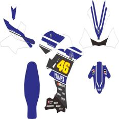 Review Toko Yamaha R15 Sticker Decal Modifikasi Rossi 46 Biru