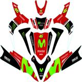 Jual Yamaha Soul Gt Sticker Decal Modifikasi Livery Movistar Red Antik