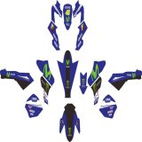 Jual Yamaha Vixion Sticker Decal Modifikasi Livery Movistar Blue Branded Original