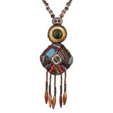 Yazilind Kreatif Vintage Lama Boho Unik Manik Manik Kalung Rumbai Peralatan Trendi Untuk Wanita China Aksesoris Perhiasan Original