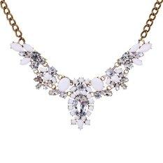 Jual Yazilind Elegan Wanita Putih Liontin Kalung Berlian Imitasi Lengkap