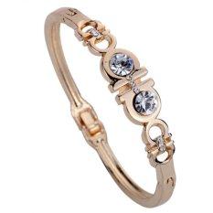 Harga Yazilind Grace Emas Berlapis Emas Naik H Mengukir Crystal Chain Link Gelang Bangle Hadiah Tiongkok