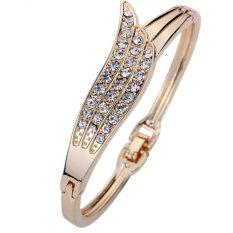 Toko Yazilind Jewelry Elegan Mawar Emas Menorehkan Sudut Sayap Kristal Menawan Hadiah Gelang Wanita Termurah Tiongkok