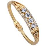 Jual Yazilind Perhiasan Elegan Emas Disepuh Desain Unik Mengukir Crystal Charming Gelang Gelang Hadiah Intl Yazilind Grosir