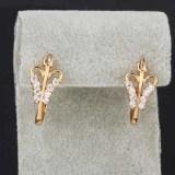 Beli Yazilind Noble Berlapis Emas Bentuk Cinta Putih Kristal Berlian Imitasi Anting Anting Perhiasan Wanita Pakai Kartu Kredit